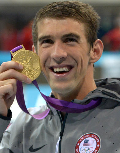 To play swimmer extraordinaire Michael Phelps, winner of a gazillion Olympic medals (so far), might we suggest...