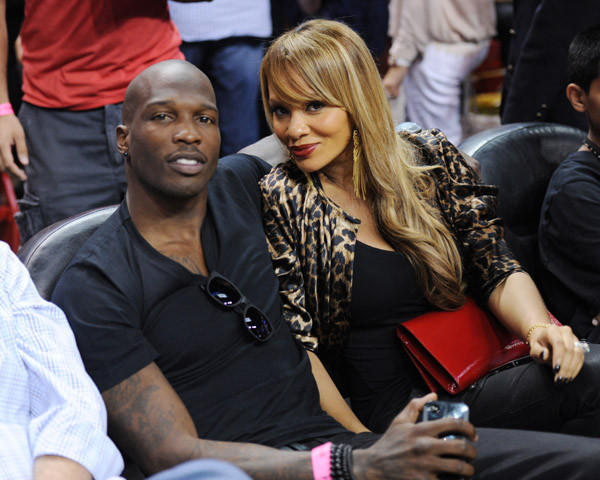 Chad Johnson and his new wife Evelyn Lozada.
