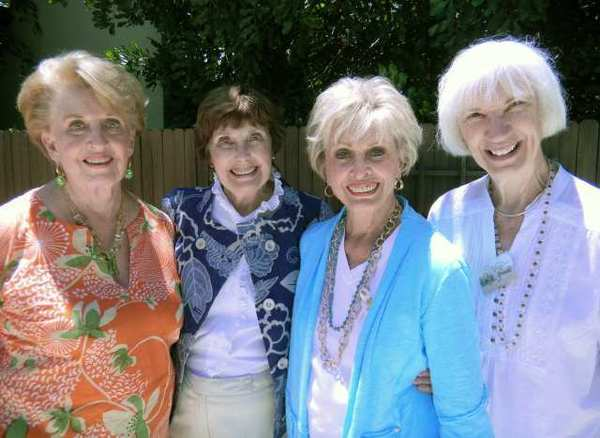 Celebrating 80 years in the community are members of the Glendale Philanthropic Educational Organization, Chapter HG, from left, Shirley Johnstone, President Elaine Williams, Carol Platz and Virginia Grande.