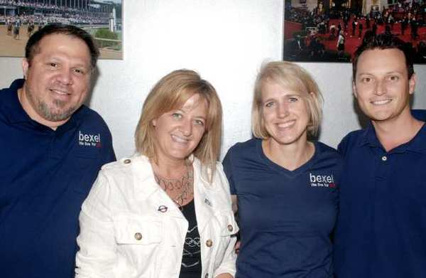 As Burbankers watch the Olympics, they should think of locals, including from left, Roger Martinez, Kirsten Ballard, Suzanne Lezotte and Mark McMahon. The work for Bexel which is helping make the coverage possible.