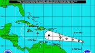 Tropical Depression 5 formed in the Central Atlantic on Wednesday afternoon, and it's forecast to strengthen into a hurricane within five days.