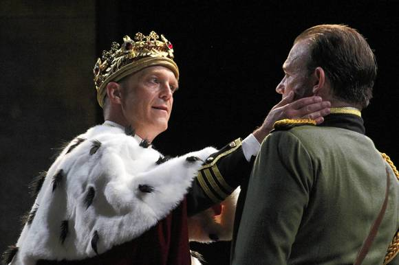 "James Ridge, left, and David Daniel in ""Richard III"" at American Players Theater."