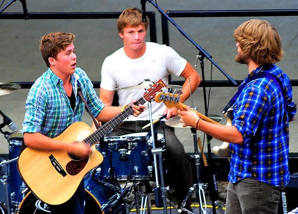 Folk rock band Joe Taxi members, from left, are Christian Lopez, Jesse Kemmerer and Alex Shanholtzer. The band will perform Wednesday, Aug. 8, and Saturday, Aug. 11, at Berkeley County Youth Fair in Martinsburg, W.Va.