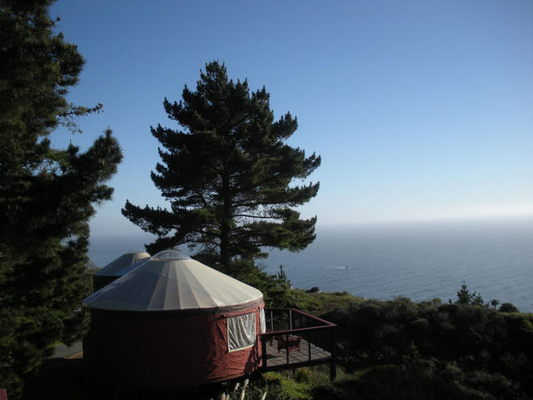 Take a different approach to luxury camping while overlooking the Pacific Ocean for an average nightly rate of $189. The yurts come equipped with French doors, electric lighting, and a spot to enjoy the seaside sunsets.