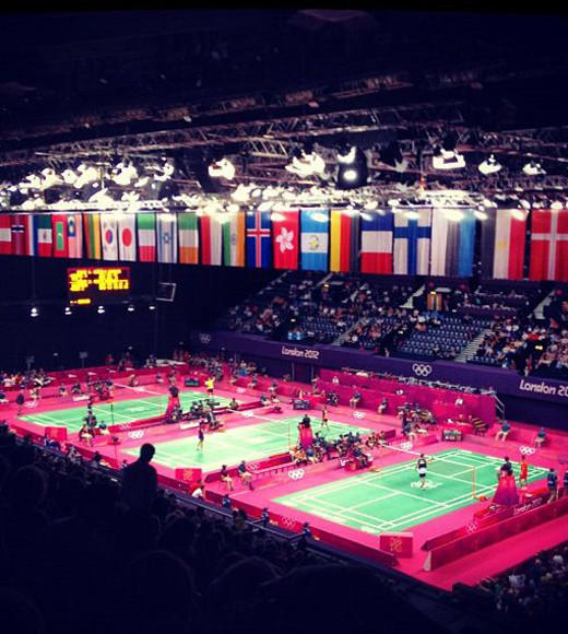 London 2012: Stunning mobile uploads from the Summer Olympics: Day 5: Badminton #london2012 #olympics #badminton #wembley -- @oliver_the_brit