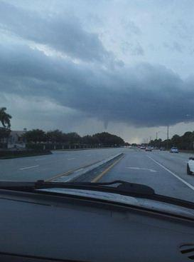 Funnel cloud spotted near Hiatus and McNab roads in Tamarac.