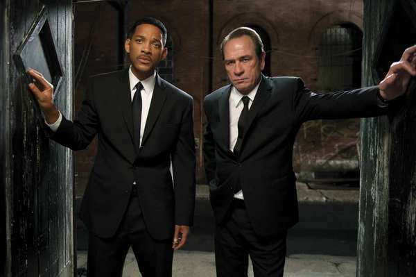 "Will Smith, left, and Tommy Lee Jones in 2012's ""Men in Black 3."""