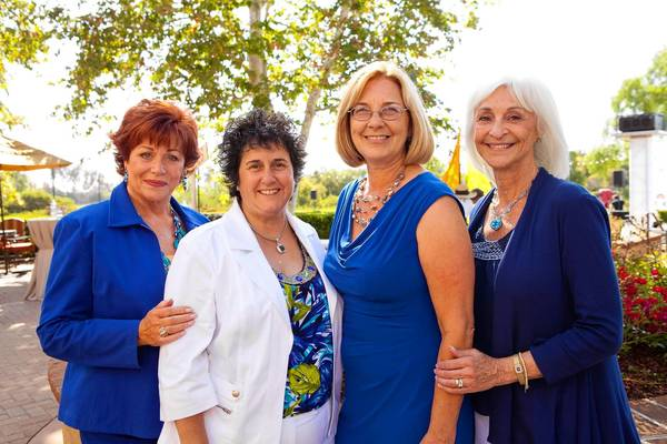KIDS FIRST: Peggy Goldwater Clay, Lori Irving, Brenda Walters and Barbara Eidson at the 2012 Children's Bureau Clambake.