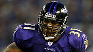 Former Ravens running back Jamal Lewis, who is due to be inducted in the team's Ring of Honor late next month, was arrested and charged with child abandonment Tuesday night.
