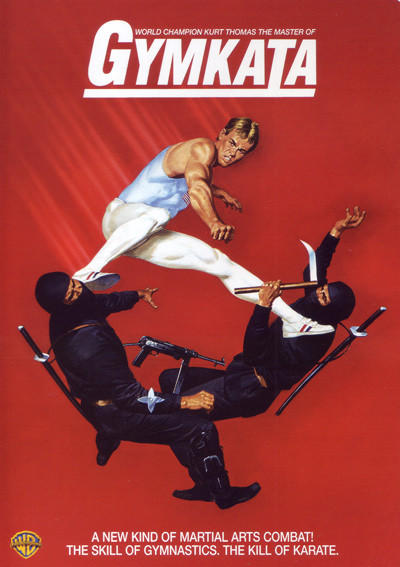 From the Games to the Screen: Olympic Athletes who went Hollywood: He can also console himself with the knowledge that he starred in one of the most bizarre, nonsensical and utterly awesome Olympics-inspired movies of all time: Gymkata. Theres this top-secret martial arts competition, see? And the US government sends him to compete -- TO THE DEATH! And yes, high kicks from a pommel-horse like structure in the middle of a medieval town are key to his survival.