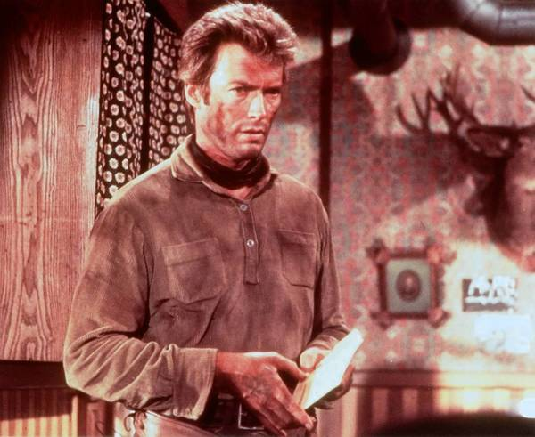 "Clint Eastwood in ""A Fistful of Dollars."""