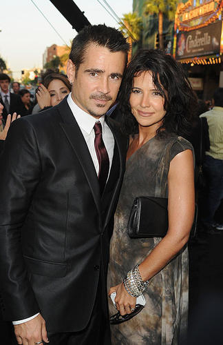 "Colin Farrell with his sister Claudine at the Los Angeles premiere of ""Total Recall"" at Grauman's Chinese Theatre in Hollywood. Farrell plays Douglas Quaid (and Hauser) in the remake of the 1990 Arnold Schwarzennegger film."
