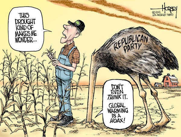 Republicans heads are buried in the climate change sand
