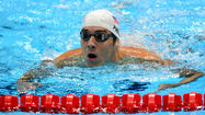 Michael Phelps swims to second seed in 100M butterfly preliminaries