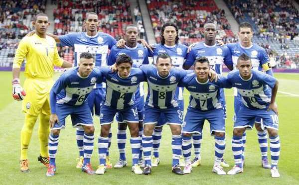 Jerry Bengston, second from left in the bottom row, has scored all of Honduras' goals in the London Olympics.