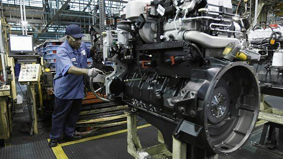 A worker on the assembly line at Navistar in Melrose Park in 2010.