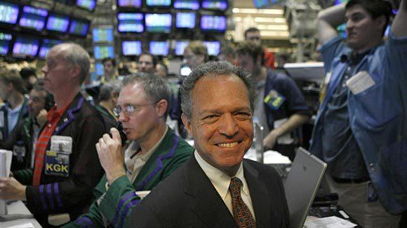 William J. Brodsky, chairman and CEO of the Chicago Board of Options Exchange, stands among the traders in 2007.