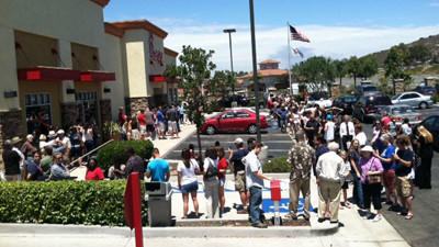 Unemployed Losers Show Their Support For Chick-Fil-A