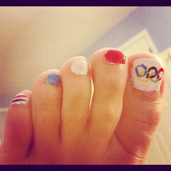Did my toes #olympics #USA