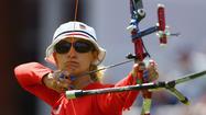 LONDON — Five-time Olympian Khatuna Lorig's bid for her first individual archery medal ended Thursday afternoon in tricky, windy conditions at Lord's Cricket Ground.
