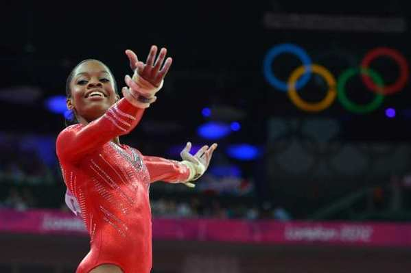 After the vault and uneven bars, the United States' Gabrielle Douglas had a score of 31.699, putting her in first halfway through the women's gymnastics all-around competition.