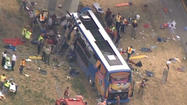 A woman was killed and several others were injured after a double-decker Megabus traveling from Chicago slammed into a concrete overpass support Thursday afternoon.