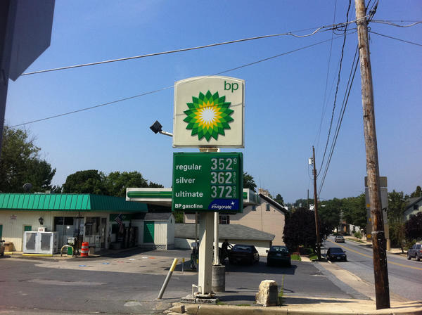 The BP station in Sharpsburg had the most expensive gas prices overall among the stations The Herald-Mail visited Thursday.