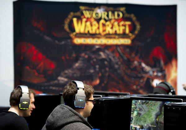"""World of Warcraft"" players at a CeBIT technology conference in Hanover, Germany."