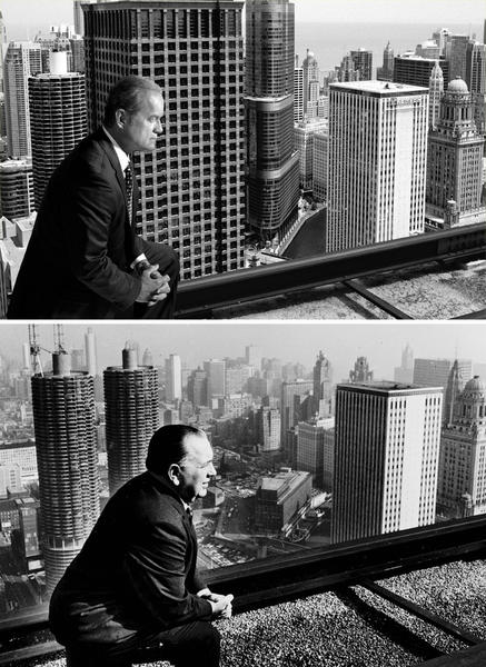 "The latest promo image from the Starz drama ""Boss"" was inspired by a photo of the original boss of Chicago, Mayor Richard J. Daley, taken in 1966 by the Chicago Tribune (below). Daley seems to be presiding over the changing Chicago skyline. The photo was one of Daley's favorites. In the Starz photo, taken be Chuck Hodes, fictional Chicago Mayor Tom Kane (Kelsey Grammer) strikes a similar pose as he looks over his kingdom. As you can see, many more buildings have arisen since 1966, including Trump Tower. Season 2 of ""Boss"" premieres at 8 p.m. Aug. 17 on Starz. READ: 'Boss' Season 2 key art salutes Chicago history"