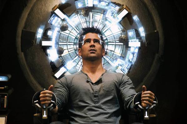 "Colin Farrell stars in ""Total Recall."""