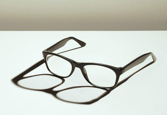 Glasses on table