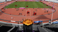 LONDON — For 70 days, the Olympic flame was one of the most visible sights in the United Kingdom, relayed over land, sea and sky in front of some 15 million people. Then it arrived at the Olympic Stadium for last Friday's opening ceremony and went missing.