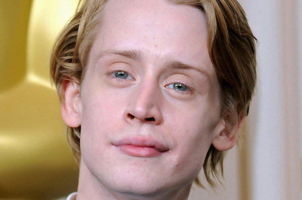 Macaulay Culkin backstage at the 82nd Academy Awards in 2010.