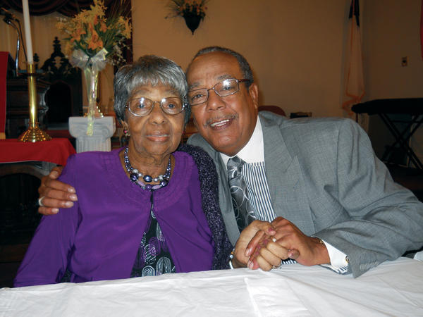 Grace Snively celebrated her 99th birthday Sunday at Ebenezer AME Church with the Rev. Leroy Jackson. It was also Jackson's birthday.
