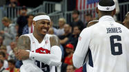 Maryland angle: 'Melo sets records as U.S. smashes Nigeria in men's basketball