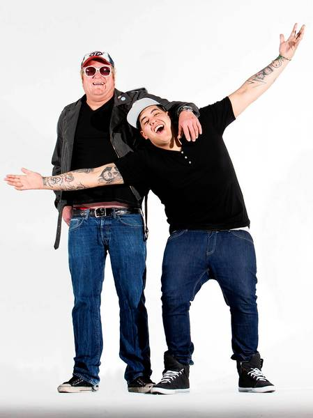 Ska rock band Sublime with Rome, fronted by founder Eric Wilson (left) and Rome Ramirez, plays Musikfest's main stage on Saturday.