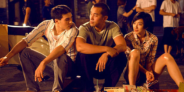 "Rhydian Vaughan, Joseph Chang and Lun Mei Gwei in ""Girlfriend Boyfriend."""