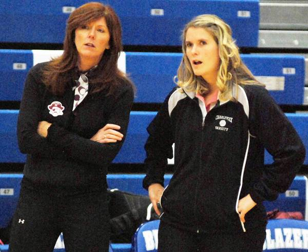 Longtime assistant Audra Randall (left) will take over as the varsity coach of the Charlevoix High School volleyball team for Liz Shaw for the 2012 season.