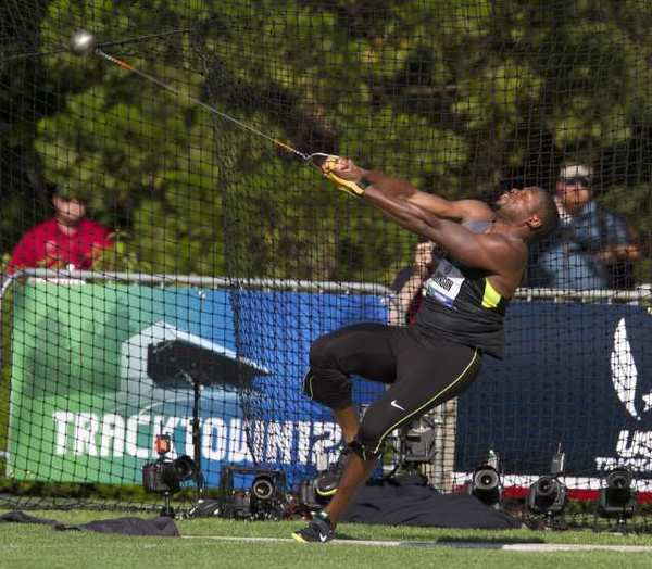 Hammer Throw Field in The Hammer Throw at The