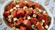 Recipe: Watermelon salad with feta, mint and cumin-lime dressing