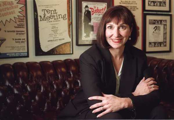 Joan Stein, producer of theater and movies, at her Beverly Hills office in 1997.