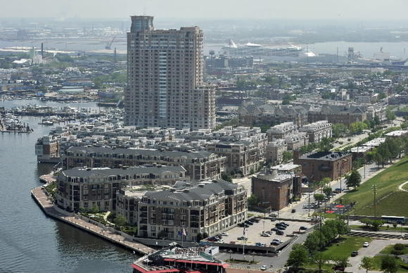 The Ritz-Carlton Residences alongside Baltimore's Inner Harbor.