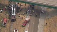 1 Killed after Megabus traveling from Chicago slams into overpass