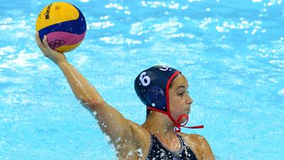 Teen having splashy 1st Olympics for U.S. water polo team