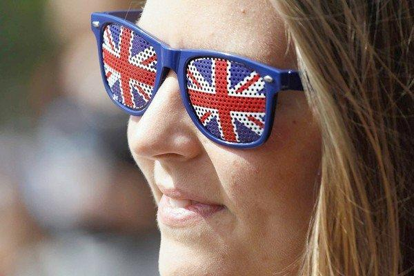 For the London Olympic Games, the British are wearing their flags on their sleeves, among other places. Katie Crabtree, 23, of Bath, England, shows off her pride while waiting to join in the free festivities at Hyde Park in London on Aug. 3, 2012.