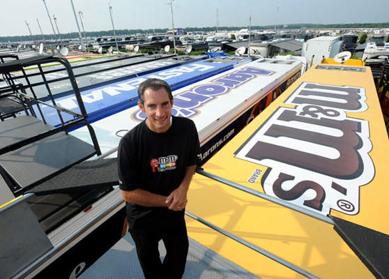 Tony Hirschman of Northampton works for Joe Gibbs Racing, as a spotter for Kyle Busch driver of the #18 M&M's Toyota in the NASCAR Sprint Cup Series.