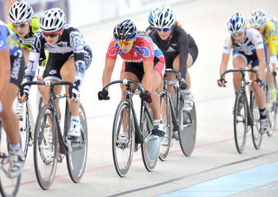 The pro women's 20 lap points race was held at the Lehigh Valley Velodrome on Friday.