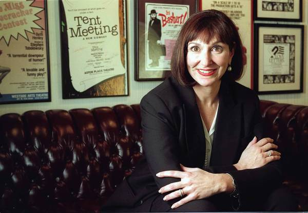 "Joan Stein, photographed at the Canon Theatre in Beverly Hills in 1997, recently produced ""Catch Me If You Can"" and ""9 to 5"" on Broadway."
