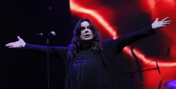 Ozzy Osbourne of Black Sabbath performs at Lollapalooza on Friday, Aug. 3, 2012.
