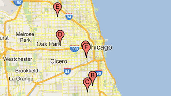 People were shot at these locations the night of Aug. 3 and morning of Aug. 4